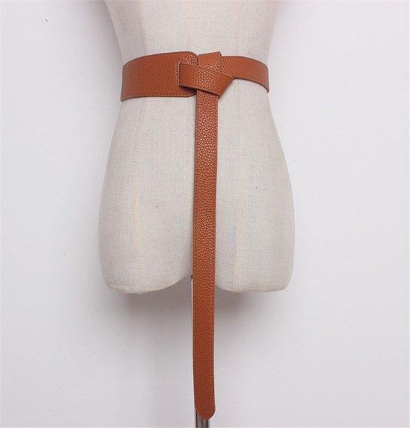 Color:brown&Belt Length:119cm