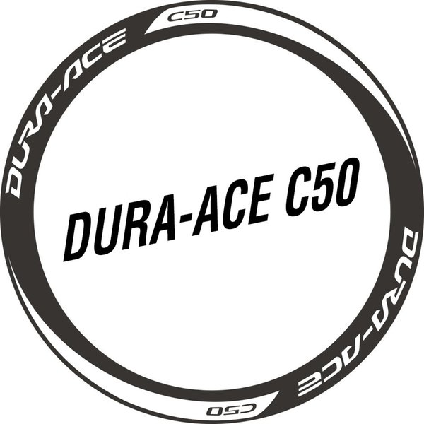 Two Wheel Set Stickers for DA C50 DURA ACE Water Proof Sticker for Road Bike Race Cycling Bicycle Decals #80860