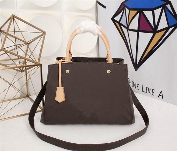 designer de luxo bolsas bolsas estilo clássico M41056 MONTAIGNE marca de moda genuína bolsas de couro crossbody sacos de ombro saco de viagem