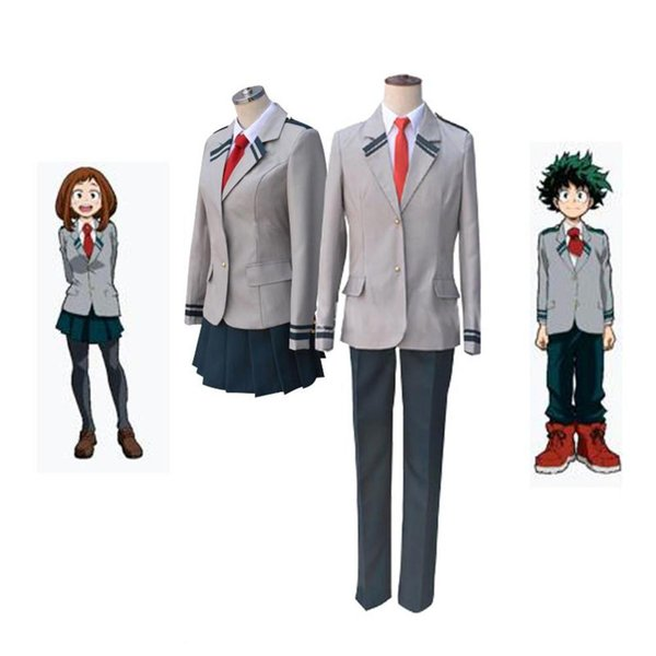 New Boku No Hero Academia Asuitsuyu Yaoyorozu Momo School Uniform My Hero Cosplay Costume Ochaco Uraraka Midoriya Halloween Cosplay Xs 2xl Costume For