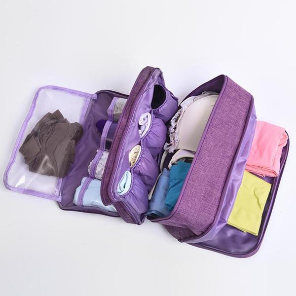 Büyük Kapasiteli Sutyen Iç Çamaşırı Saklama Çantası Seyahat Organizatör Kozmetik Için Çekmece Sıralama Organizatör Çekmece Dolap Giyim Kılıfı 6 Renkler