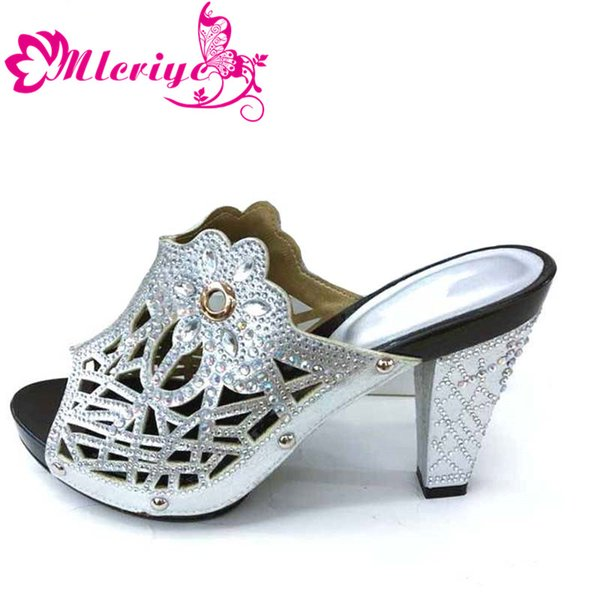 Silver only shoe