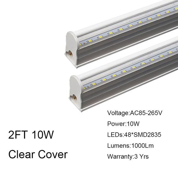 2FT 10W Clear Cover
