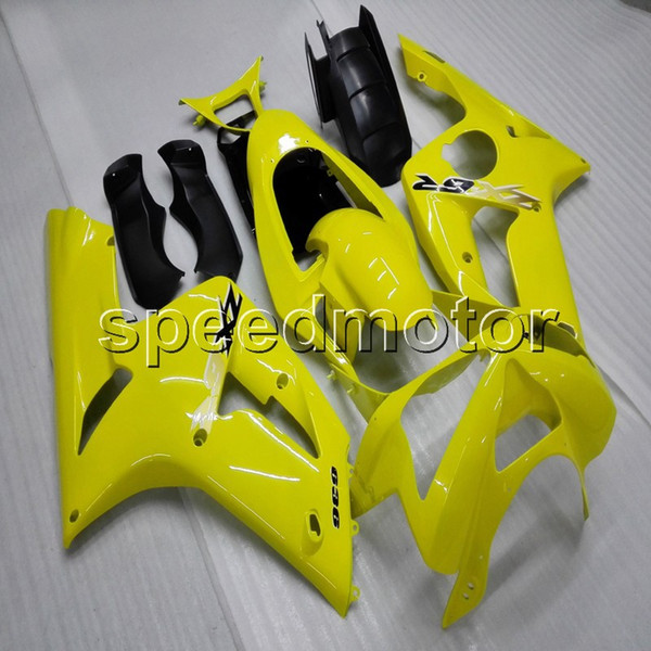Botls+Gifts Injection mold yellow motorcycle cowl for Kawasaki ZX6R 2003-2004 ABS motor Fairing plastic
