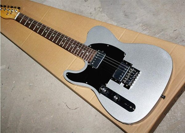 2019 New Hot sale! Silver Left hand Electric Guitar with black Pickguard,Rosewood Fretboard,chrome hardware,can be changed