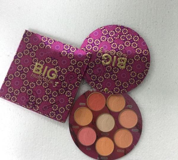 по ePacket Нового макияжа лица Марки BIG Blush BOOK 3 румяна палитра 8 цветов краснеют Highlighter