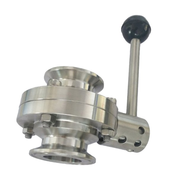 best selling Port Size 19mm Tri Clamp Sanitary Butterfly Valve Stainless Steel with Pull Handle