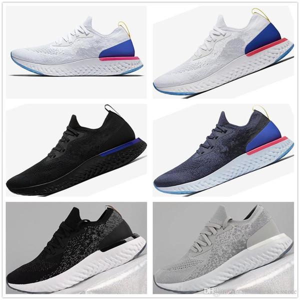 Nike Epic React Flyknit Yeni Ürünler 2019 Yeni kadın Casual Fly Örgü Üst Nefes Konfor Köpük Tasarım Tampon Açık Rahat Ayakkabılar EUR36-45