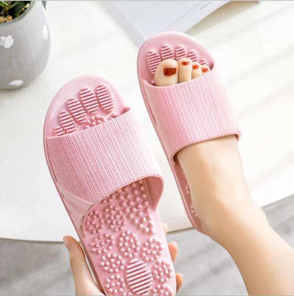 Wholesale Summer beach cork Slippers Casual Sandals Antiskid massage Slides Double Buckle Clogs Women man Slip on Flip Flops Flats Shoe ook