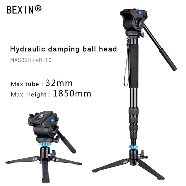 Camera Monopod Photography Aluminum Fluid Video Head monopod for manfrotto gitzo with Folding Three Feet Support Stand Tripod
