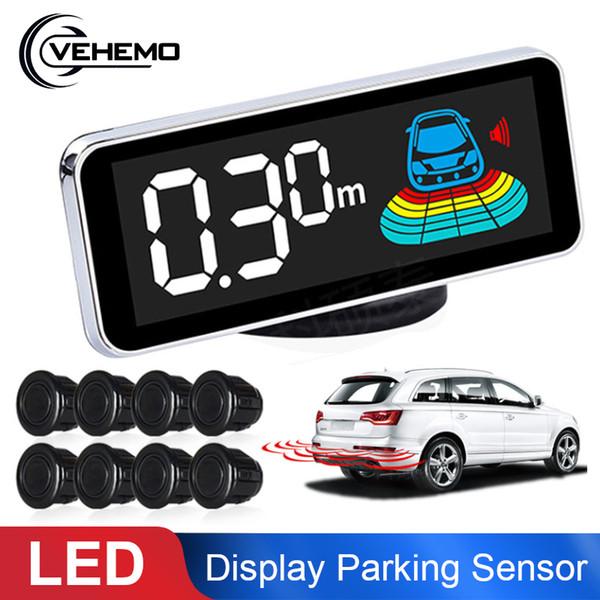Vehemo Voice + Buzzer Warning Radar Reverseing Parking Sensor Sensor Car for LCD Display Digital Security