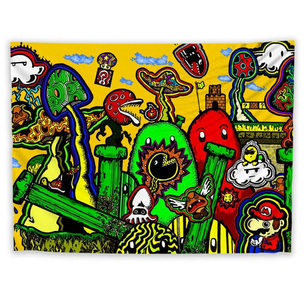 Colorful Painting Wall Hanging Tapestry Psychedelic Bedroom Home Decoration