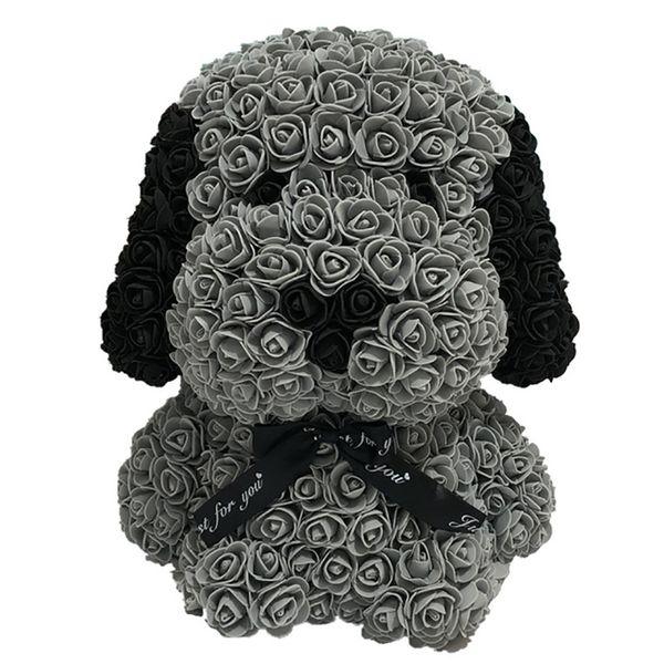 Oso de rosas con regalos Caja de regalo LED del oso de peluche Rosa de Jabon Espuma Flores artificiales de Año Nuevo para las mujeres