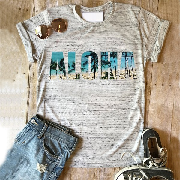 women shirts ohana plus size graphic t shirts aloha womens tee 90s white top vintage graphic tees woman harajuku tops mama new