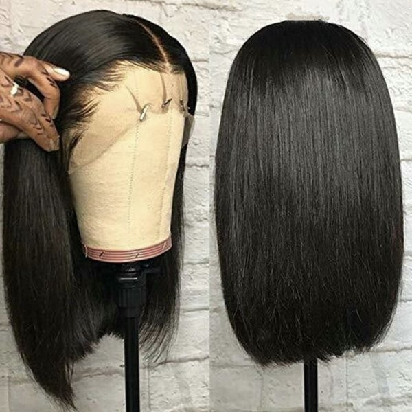 Silk Top Bob Straight Lace Front Wigs Full Lace Wigs Straight 8-20 inch In Stock Unprocessed Cheap Brazilian Virgin Human Hair Wigs