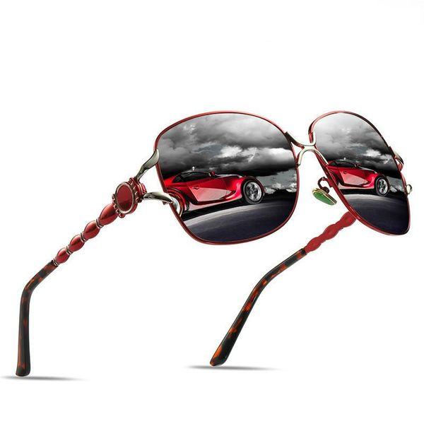 Ms. Polarized Jade Nose Sunglasses New Elegant Driving Anti-UV Anti-glare Sunglasses Natural Material Lens + Beautiful Box