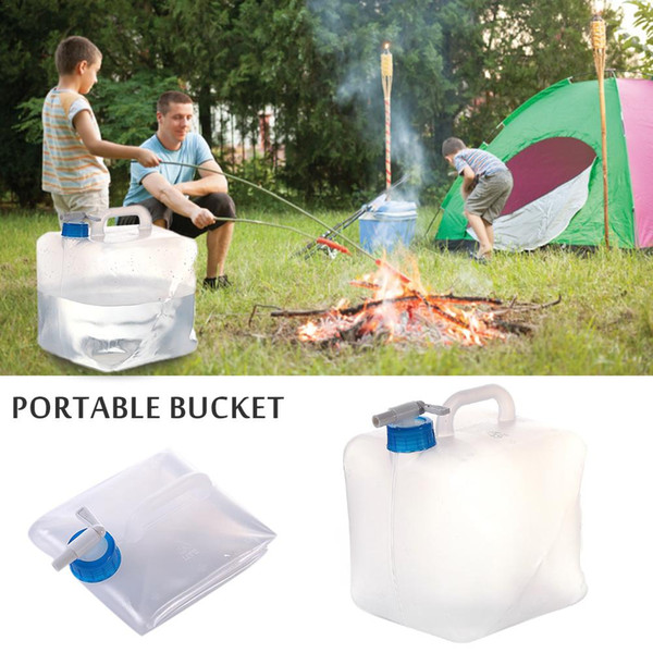 best selling Grade PE Material Collapsible Water Container With Spigot Portable High Cpacity Outdoor Camping Hiking Emergency Water Tank
