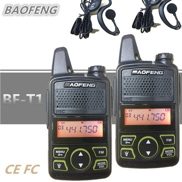2 PCS Baofeng BF-T1 BF T1 Portable Mini Walkie Talkie CB Two Way Ham UHF Radio Station Transceiver Boafeng PMR 446 PMR446 Amador