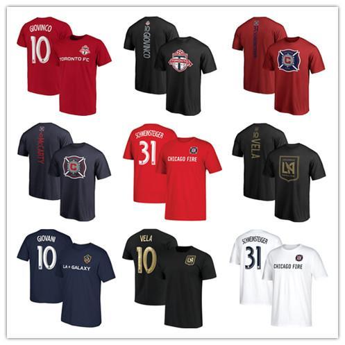 MLS Chicago forması # 31 Bastian Schweinsteiger # 10 Carlos Vela erkek forması # 6 Dax McCarty # 10 Sebastian Giovinco Futbol forması futbol tişört