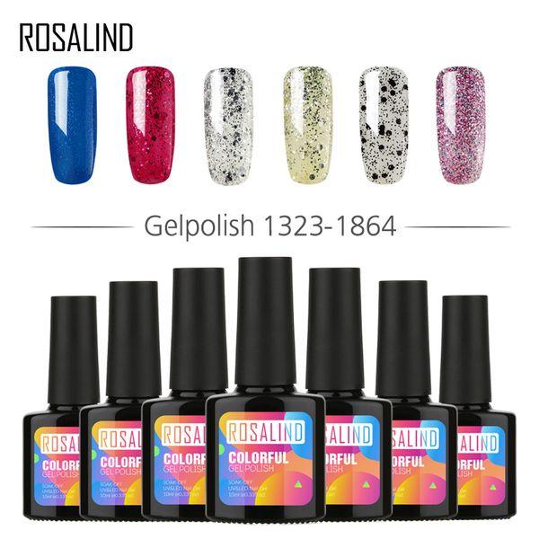 Розалинда Гель 1S P + черная бутылка 10ML Nude Цвет 1323-1465 гель лак для ногтей Top Coat Основа Необходимое Nail Art UV LED лак