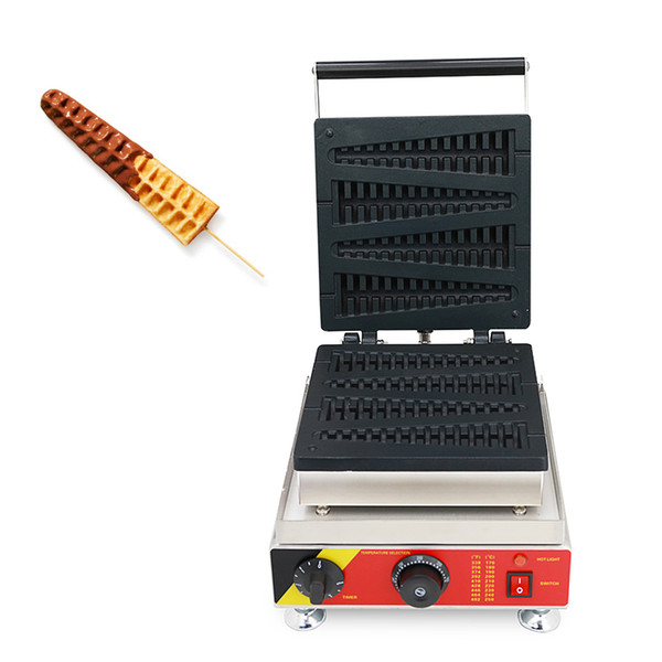 Commercial Use Non-stick Christmas tree Shaped Lolly Waffle Maker 110v 220v Waffle On A Sticks Machine Iron Baker Pan