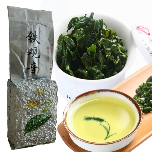 top popular Tieguanyin Oolong Tea 250g China Naturally Organic Health Care TiKuanYin Green Tea tie guan yin Tea Green Food 2019
