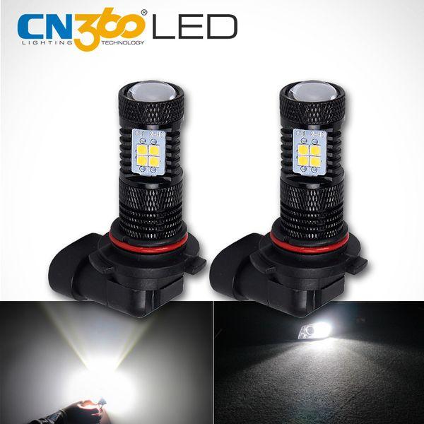 CN360 2PCS haute Lumens Super Bright SMD3030 9006 HB4 Auto voiture LED d'éclairage diurne DRL Ampoule ANTIBROUILLARD Fiche jeu