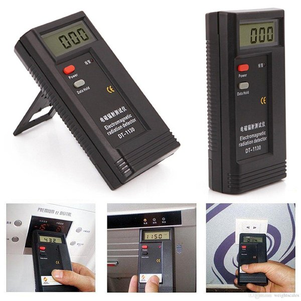 LCD Digital Radiation Testers Detectors EMF Meters Dosimeter Electromagnetic Tester Detector DT1130 9V Battery included in Retail package