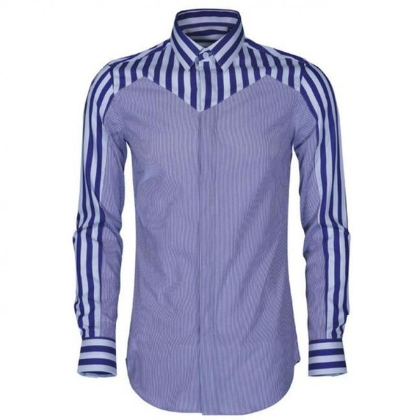 Silk Cotton Stripe Men Shirt Luxury Long Sleeve Splice Dress Shirts Men Plus Size 4xl Hight Quality Mens Shirts Casual Slim Fit