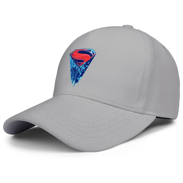 Logo proyected Super heroes Superman grey mens and women trucker cap ball design custom plain fashion running hats