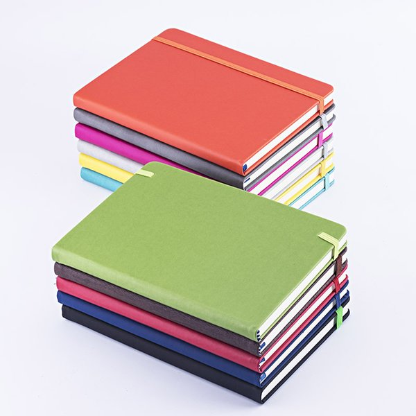 best selling New Promo Gifts Personalized Custom A5 daily agenda Pocket planner Journal Diary PU Leather Cover Color Change Notebook with Elastic Band