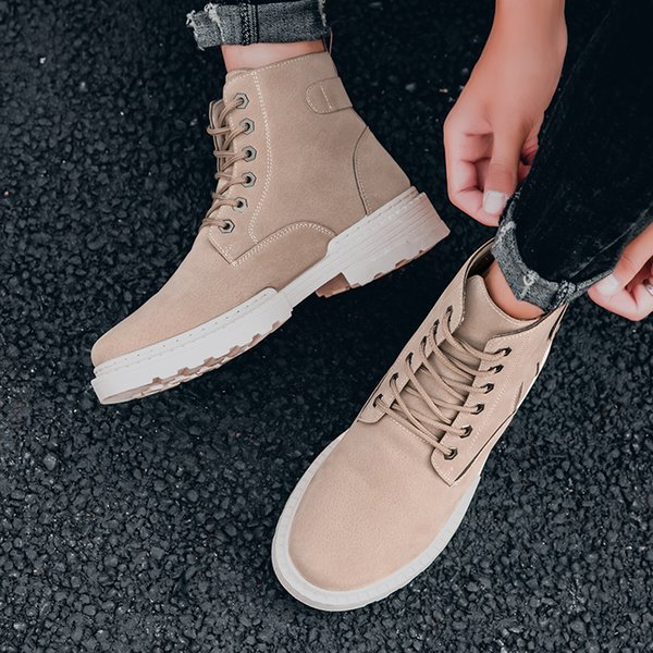Winter Men's Boots Warm Leather Male Waterproof Shoes Chaussure Man Casual Shoes For Men Boots Footwear Male Sneakers *D506 T191024