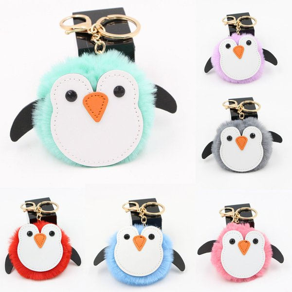 Hot Mini Penguin Keychain Cute Cartoon Keychain Keyring For Women Girls Pendant Accessories Gifts Kid Toys Lovely Key Chain M128Y