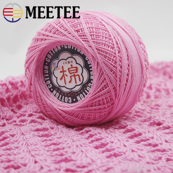 Meetee Lace Crochet DIY Manual Woven Sewing Hand-knitted Tablecloth Coaster Woven Wool Craft Sewing Accessories BD369