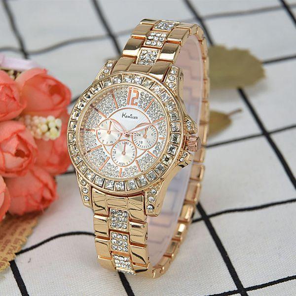 Mulheres de relógios famosos marcas de luxo Diamante Ladies relógios de pulso Feminino pequeno relógio de pulso Rose relógio de ouro mulheres Montre Femme 2019