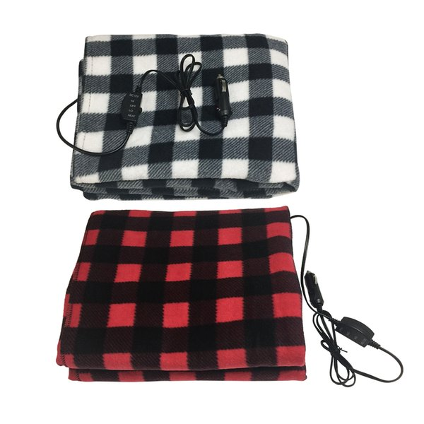 Free shpping 145*100cm Lattice Energy Saving Warm 12v Car Heating Blanket Autumn And Winter Electric Blanket Car Accessories