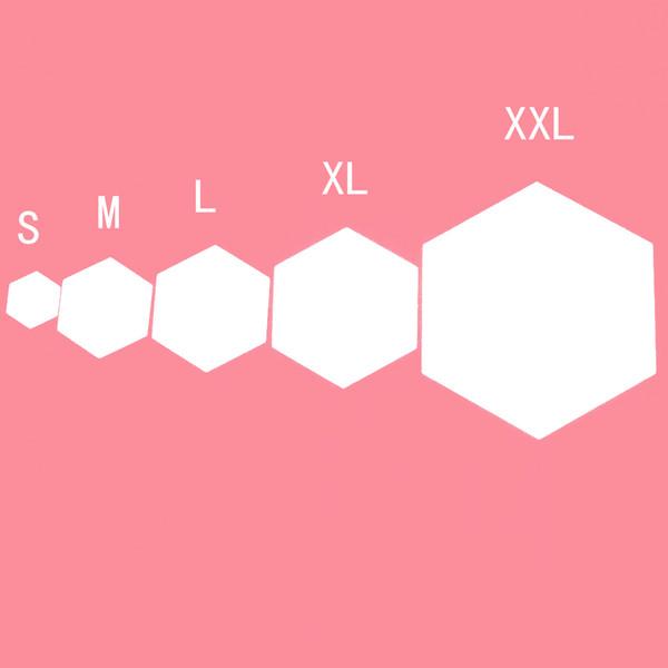 6 / 12PCs Etiqueta de la pared del espejo hexagonal geométrico DIY Decoración para el hogar Ampliar la sala de estar Seguridad extraíble 5 tamaños DIY Etiquetas de la pared