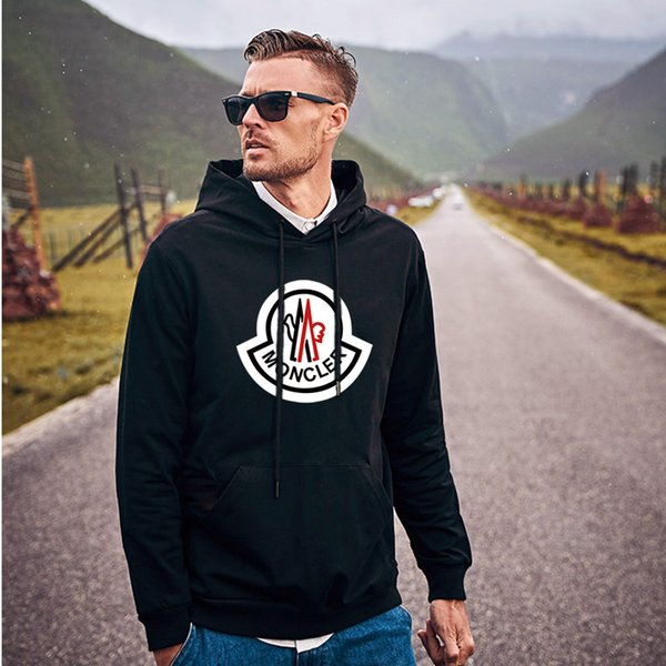 Autumn and winter men's clothing design fashion sweatshirt european-american style monogrammed men's and women's long-sleeved black clothing