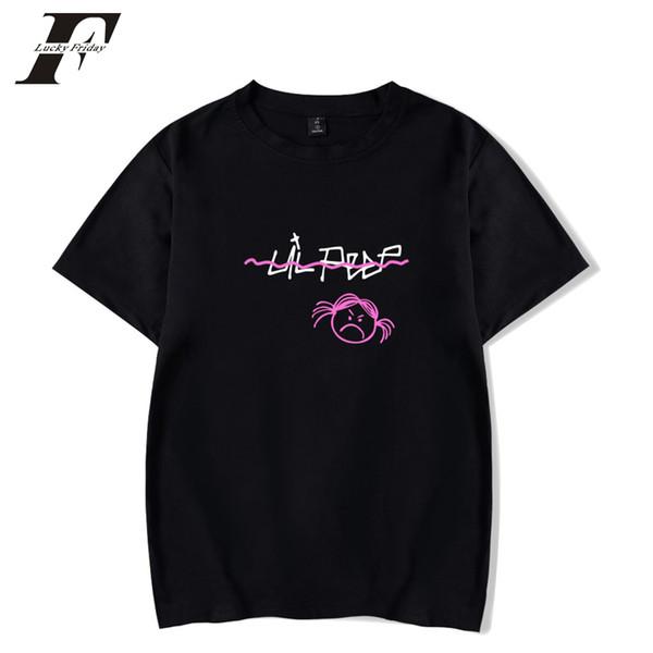 LUCKYFRIDAYF 2018 T-shirts en coton Lil Peep pour hommes / femmes T-shirts rigolos Tee-shirt manches courtes d'été Camisetas Hip Hop grande taille