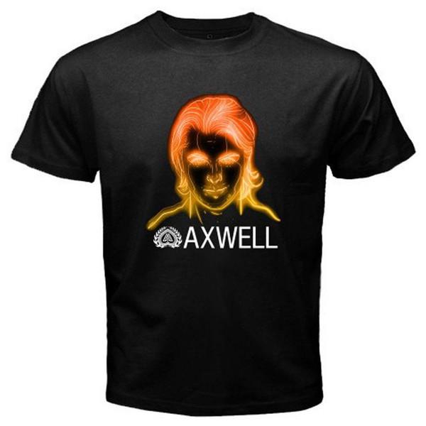 Novo DJ AXWELL Sueco Casa Mafia Tour Logotipo dos homens T-Shirt Preta Tamanho S para 3XL