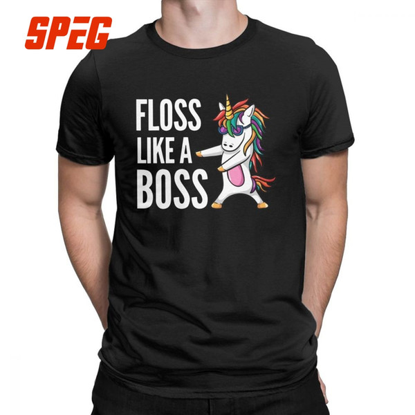 Unicorn Floss Like A T Shirt La ropa más nueva del hombre Funny Dance Flossing T-Shirt Round Neck Cotton Tee Shirt Plus Size