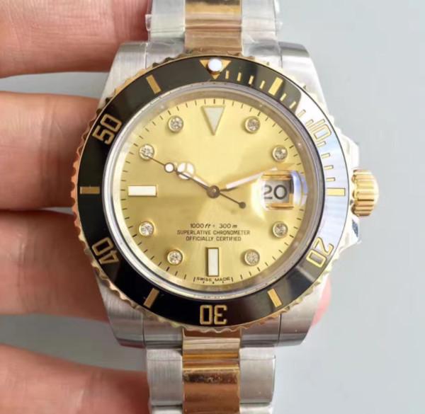Orologi da uomo di lusso di alta qualità Brand New 40mm 116613LN 116610 116613 116619 114060 Swiss ETA 2836 3135 movimento automatico da uomo orologi da polso
