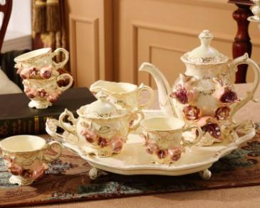 European coffee cup set American English ceramic tea tea set home tea set with tray