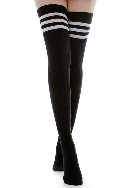 Pamuklu Orta Uyluk Diz Altı Ayakkabılı Yüksek Çoraplar Pamuklu Bacak Isıtıcıları