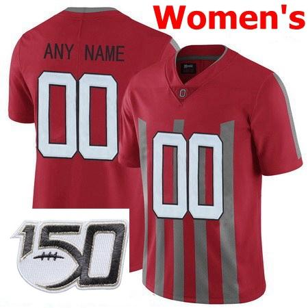 Womens Red Stripe With 150th Patch