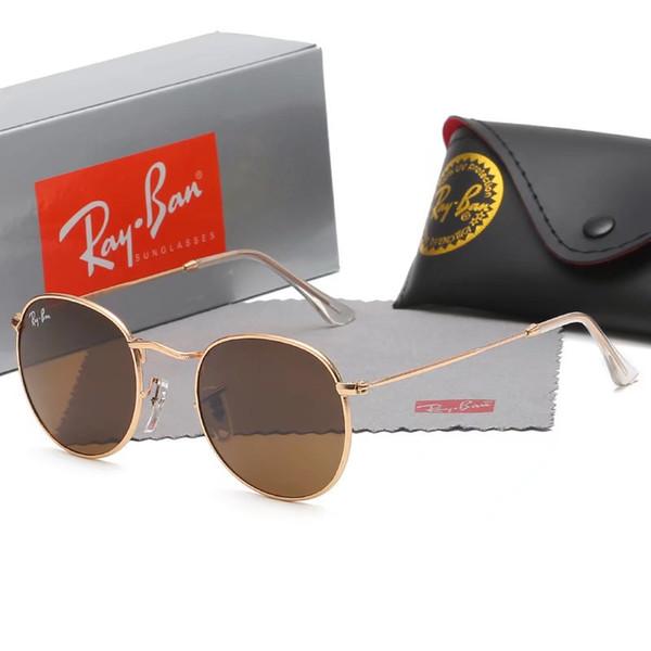 Lunettes de soleil de designer de luxe pour femmes marque mens de la mode cadre en métal côté rond vintage rétro steampunk gothique cercle hippie rétro lunettes 47