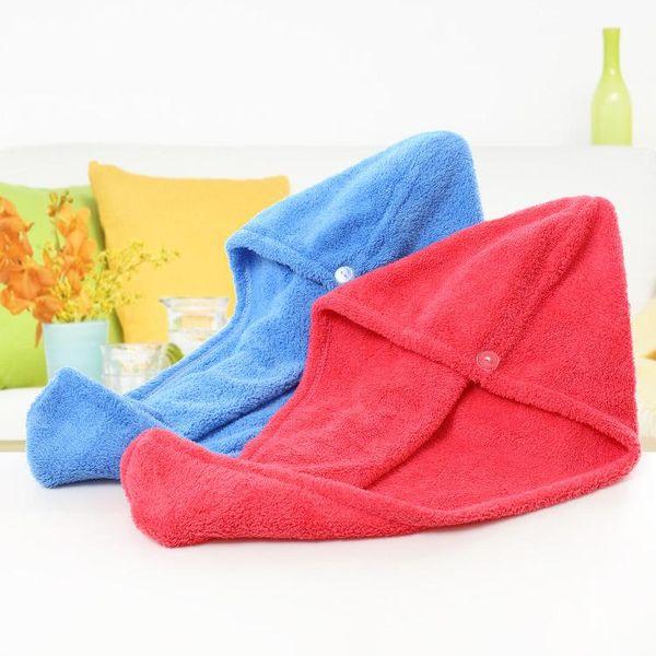 top popular wholesale Magic Quick Dry Hair Shower Caps Microfiber Towel Drying Turban Wrap Hat Caps Spa Bathing 2021