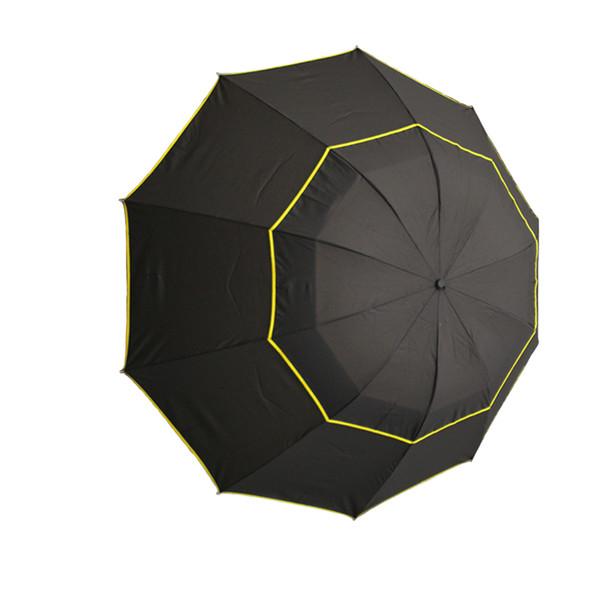 Trois pliage Golf Parapluie Mode Durable Windproof Rain Portable Grand Séchage Rapide Soleil Anti UV Voyage Double Couche Cadeau