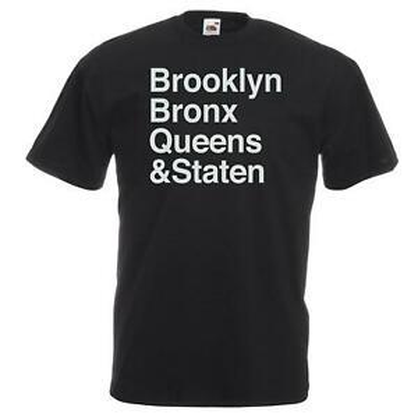 Unisex BlaShort-Sleeve Brooklyn Bronx Queens Staten T-Shirt Shirt Beastie Boys Letter NYC