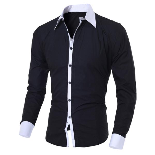 Marque Casual Shirts Hommes D'affaires Hommes Robe Chemises À Manches Longues En Coton Élégant De Haute Qualité Les Hommes Sociales Chemises